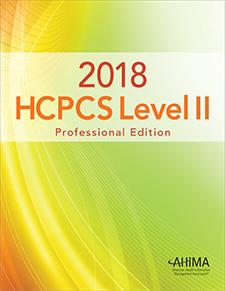 My ahima 2018 hcpcs level ii professional edition fandeluxe Choice Image